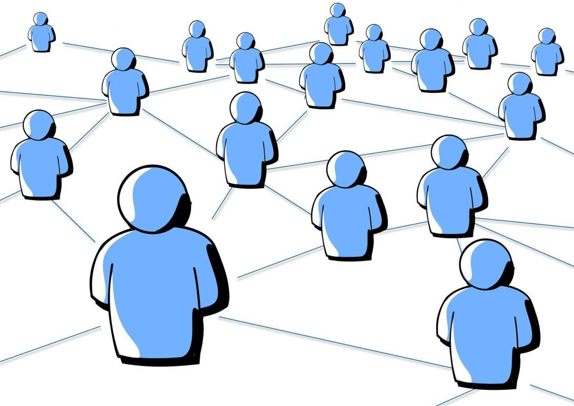 Bebilderung Menschen Netzwerk