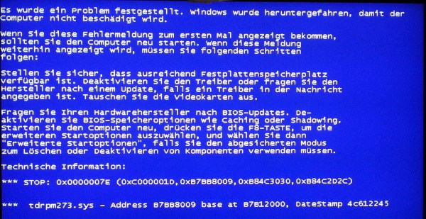 tdrpm273sys BSoD while booting WIN XP SP3 True Image 2011