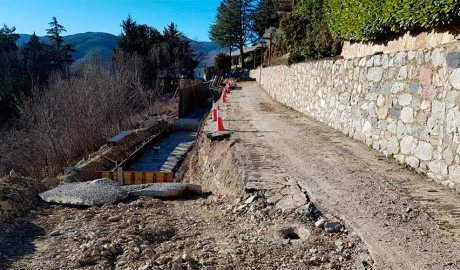 Obres al camí de Sant Isidre, a Castellciutat