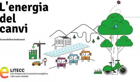Imatge de la campanya sobre la llei d'impuls i transició energètica i del canvi climàtic