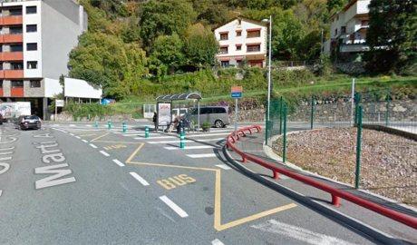La parada d'autobús del Pont Joan Martí Alanis d'Escaldes-Engordany