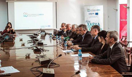 Els representants de les Cambres de comerç presenten el projecte CCI PirineusMed II