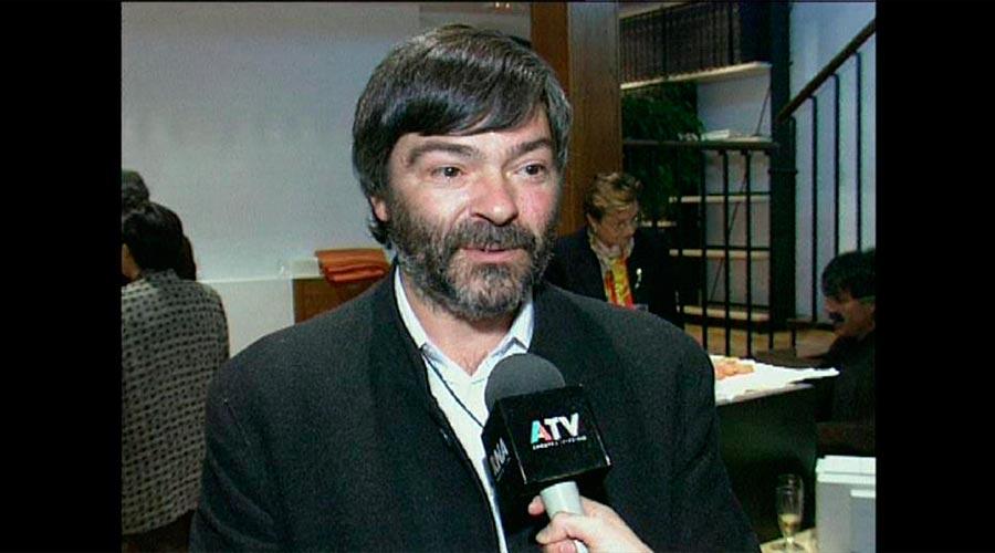 Jordi Pantebre entrevistat per Andorra Televisió uns anys enrere