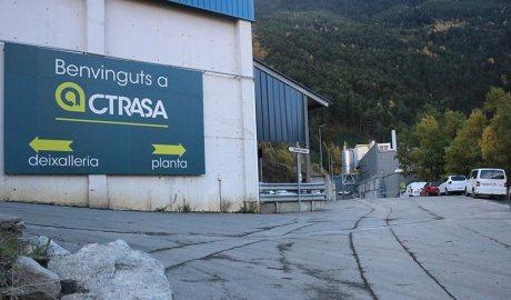 Entrada a les instal·lacions de CTRASA