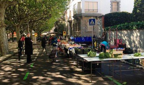 El mercat establert al passeig de Joan Brudieu de la Seu d'Urgell