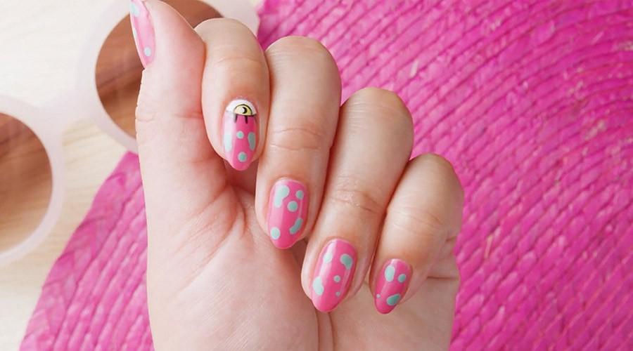 ungles pintades amb nail art