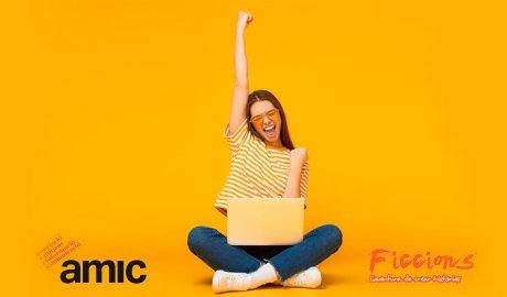 Cartell del concurs de relats AMIC-Ficcions