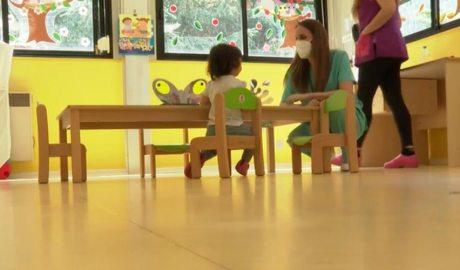 Un infant a l'escola bressol Els Esquirolets d'Encamp