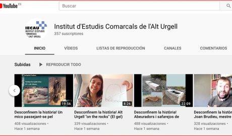 El canal de youtube de l'IECAU