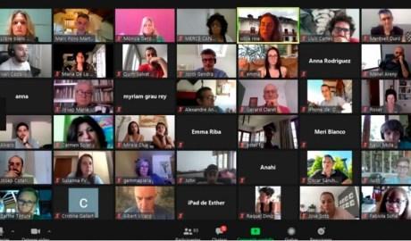 Participants en la videoconferència del llibre blanc de la Cultura