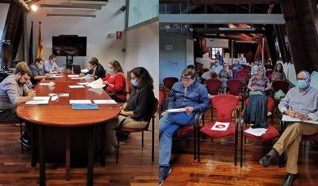 Fotomuntatge del Ple del Consell Comarcal de l'Alt Urgell