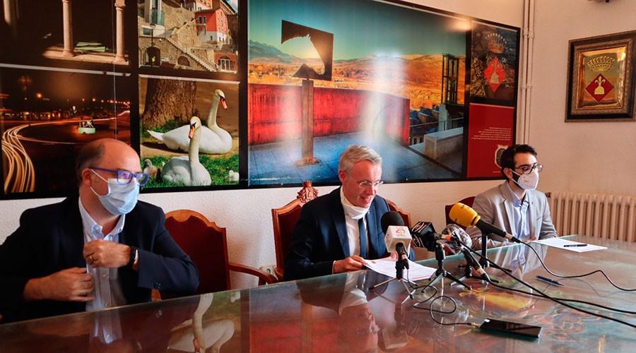 Roda de premsa conjunta de l'Ajuntament de Puigcerdà i l'AUCer