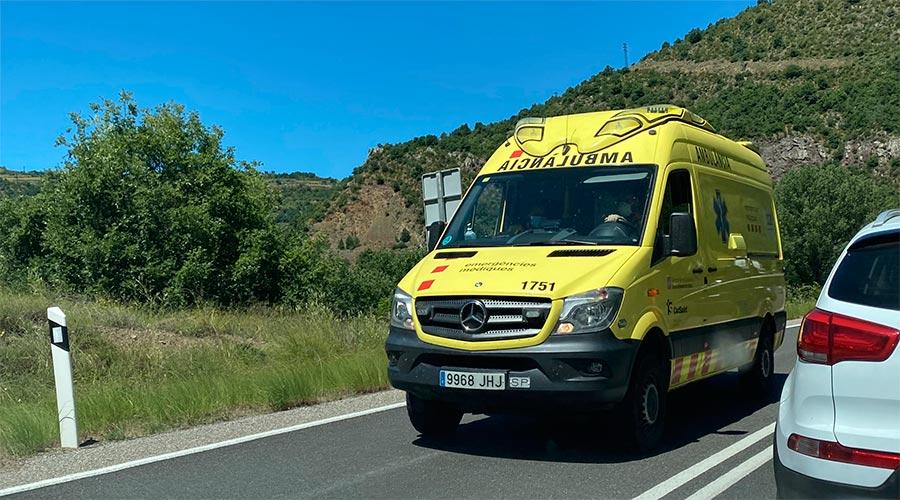 Una ambulància del Servei d'Emergències Mèdiques de Catalunya