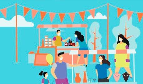 Cartell de 'mercats a la plaça'