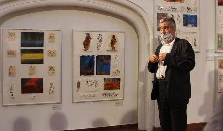 Perico Pastor en la inauguració de l'exposició 'Il·luminacions'