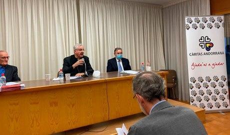 Moment de l'assemblea de Càritas Andorrana