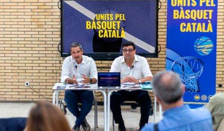 Presentació de la candidatura d'Units pel Bàsquet Català