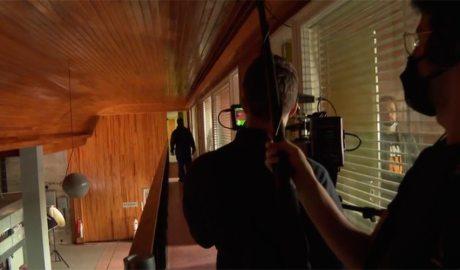 Un moment del rodatge 'Tantum' a Sud Ràdio