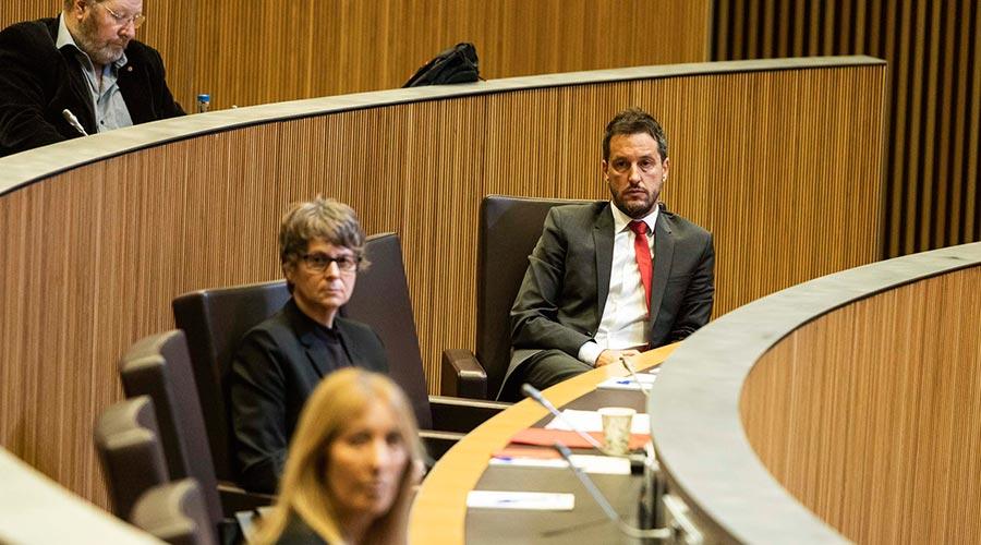 Susanna Vela, Pere López,  i Jordi Font a la fila de darrere