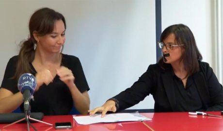 L'advocada Clara Serra Baiget i la presidenta de Stop Violències, Vanessa Mendoza
