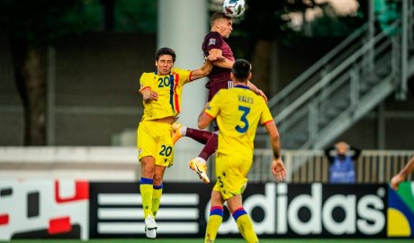 La selecció andorrana de futbol juga contra Letònia