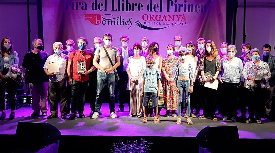Autors guardonats als Premis Homilies 2020 (Foto: Ajuntament d'Organyà)