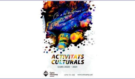 Portada del llibret d'activitats culturals del Comú d'Encamp