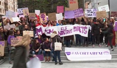 Manifestació en favor del dret a l'avortament
