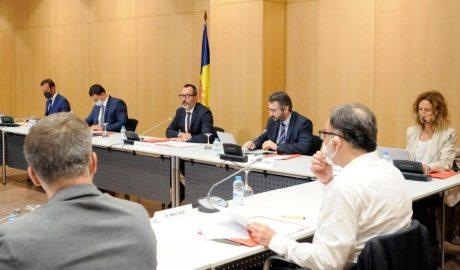 Els ministres Torres, Gallardo, Filloy, Jover i Calvó a la Taula de l'Habitatge