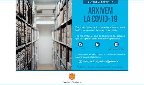 Imatge de la campanya Arxivem la Covid19