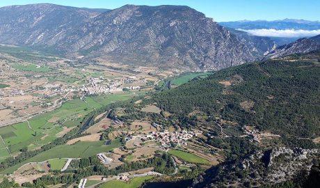 Aspecte de la vila d'Organyà i de bona part dels dominis dels antics senyors de Caboet. Autor: Carles Gascón Chopo