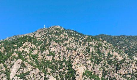 El pic de Carroi vist des d'Andorra la Vella