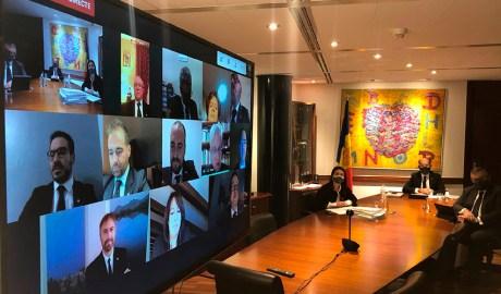 Sessió telemàtica del Consell de Comú d'Encamp.