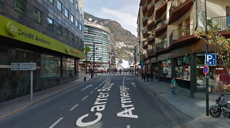 Vista del carrer Bonaventura Armengol d'Andorra la Vella
