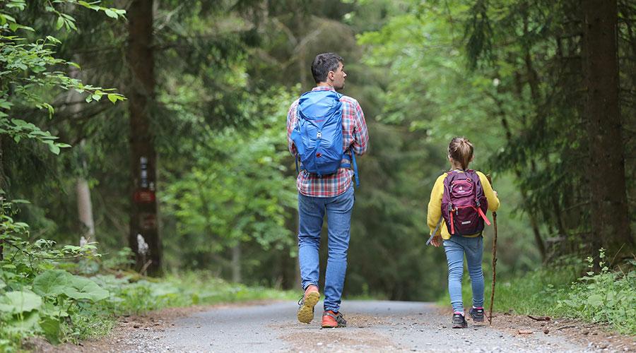 Pare i filla d'excursió