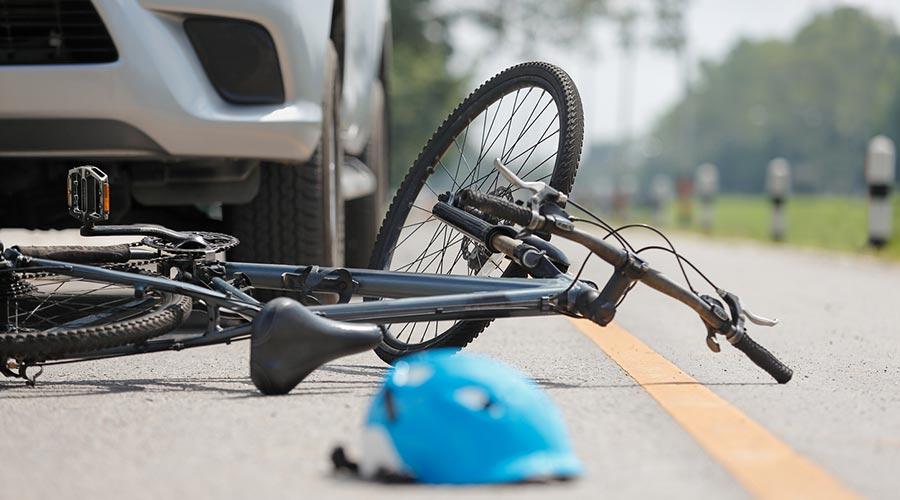 Accident d'un ciclista