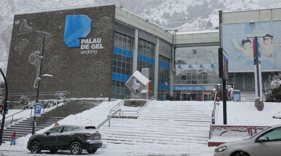 El Palau de Gel un dia de nevada
