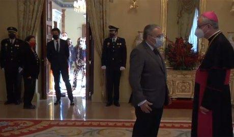 El Copríncep episcopal conversa amb l'ambaixador d'Espanya a Andorra