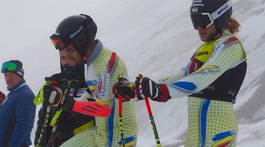 Àxel Esteve i Matías Vargas durant un entrenament de pretemporada 2020/2021. Foto: FAE.
