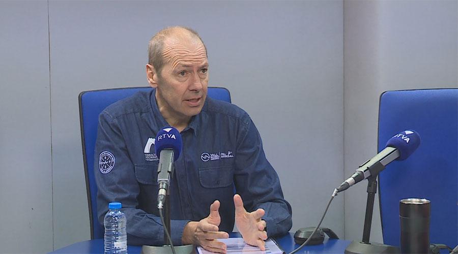 Jaume Esteve en una entrevista a RTVA