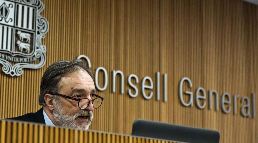 Marc Vila compareixent al Consell General com a Raonador del Ciutadà