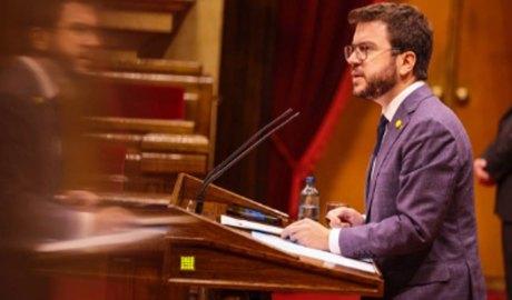 Pere Aragonès al Parlament de Catalunya
