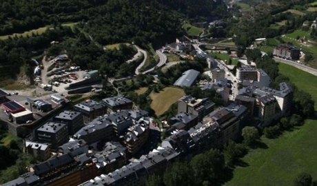 Imatge aèria de la zona de l'aparcament de la Vena