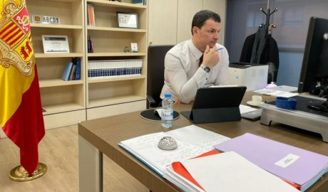 Jordi Gallardo en el seu despatx