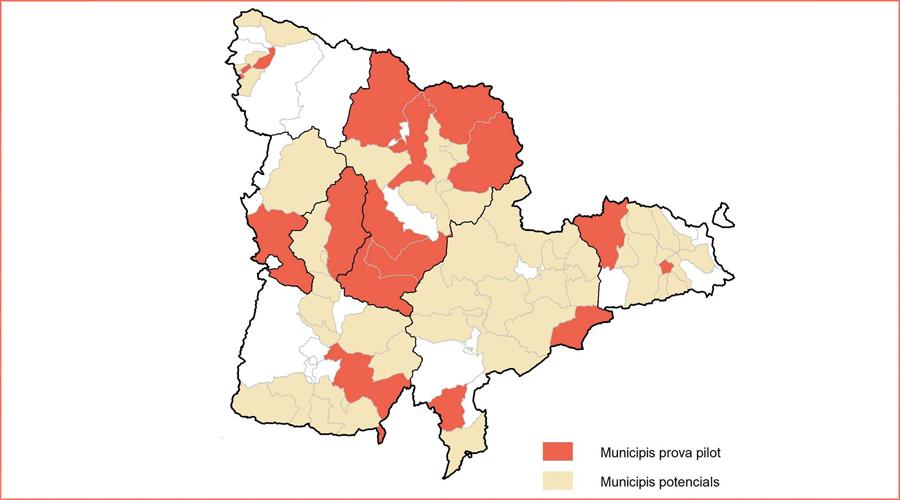 Municipis que opten al programa d'habitatge del Departament de Territori i Sostenibilitat (Mapa: DTES)