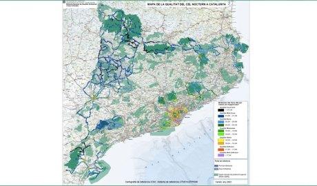 Mapa de la qualitat del cel nocturn de Catalunya del 2021