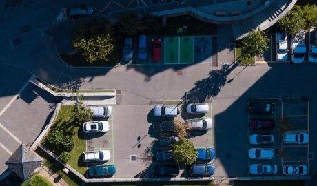 Vista aèria de l'aparcament de la Palanqueta