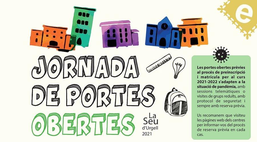Part del cartell de les jornades de portes obertes de les escoles de la Seu d'Urgell