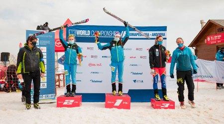 Laia Sebastià al tercer calaix del podi de la vertical race dels campionats del món d'esquí de muntanya del 2021