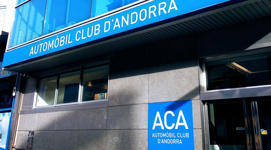 Façana de la seu de l'Automòbil Club d'Andorra